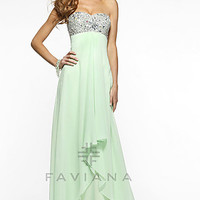 Long Strapless Gown by Faviana