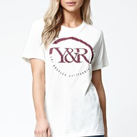 Young & Reckless Core Wrapped Boyfriend T-Shirt - Womens Tee - White