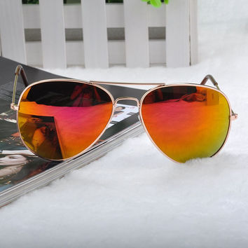 Metal Pilot Anti-Reflective Sunglasses