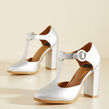 Retro Reaction Vegan Heel in Mercury | Mod Retro Vintage Heels | ModCloth.com