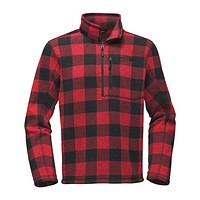 Men's Novelty Gordon Lyons 1/4 Zip in Cardinal Red Grizzly Print by The North Face