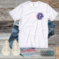 USA Monogram Bella+Canvas Unisex Tee
