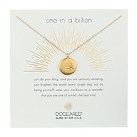 Dogeared One In A Billion, Sparkle Star Disc Necklace