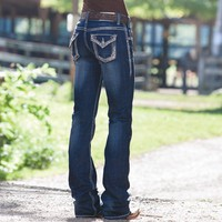Rock and Roll Cowgirl Bronze and Studs Jeans - Jeans - Women's