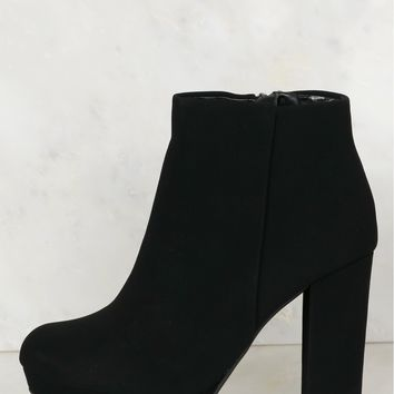 Smooth Finish Ankle Booties Black