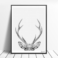 Deer Art Posters And Prints Wall Art Canvas Painting Wall Pictures For Living Room Nordic Decoration