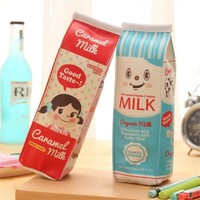 Kawaii Milk Carton Pencil Case