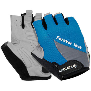 Outdoors Cycling Soft Shock-absorbing Anti-skid Permeable Gloves [6581708871]
