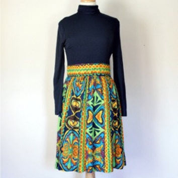 60s / 70s Knit Day Dress