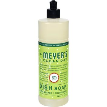 Mrs. Meyer's Liquid Dish Soap - Iowa Pine - Case Of 6 - 16 Oz