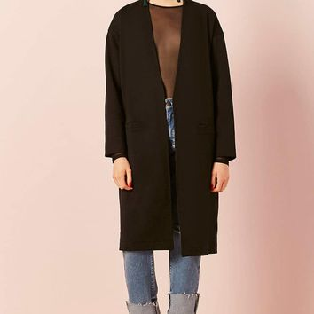 Open-Front Longline Knit Jacket
