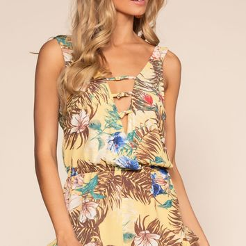 Exotic Kiss Romper - Honey