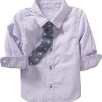Old Navy Shirt & Tie Sets For Baby