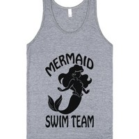 Mermaid Swim Team-Unisex Athletic Grey Tank