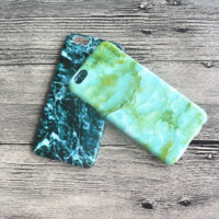 Green Marble Grain Hard Case for iPhone