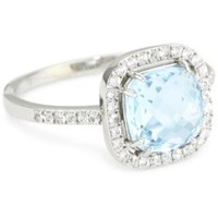 Kalan by Suzanne Kalan Blue Topaz Cushion Cut Ring