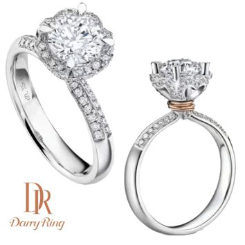 DR Darry Ring Upscale Court Flower Set with Luxury Ring