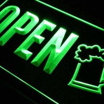 Beer Pub Bar Open LED Neon Light Sign