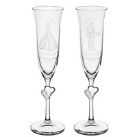 Disney Personalizable Cinderella and Prince Charming Glass Flute Set by Arribas -- 2-Pc. | Disney Store