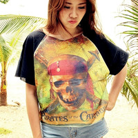 Pirates Of The Caribbean Shirt Women T-Shirt Girl Chic Style Hipster Summer Fashion