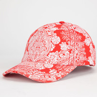 Billabong Inner Vision Womens Strapback Hat Red One Size For Women 25569330001