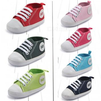 Canvas Classic Sneakers Baby Boys Girls First Walkers Shoes Infant Toddler Soft Sole Anti-slip Baby Shoes Olive Green/4