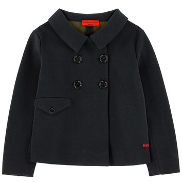 Sonia Rykiel Girls Black Neoprene Jacket
