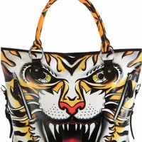 """""""Ruthless"""" Tote Bag by Iron Fist Clothing (Black/Orange)"""