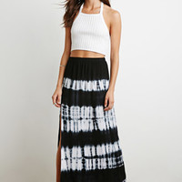Side-Slit Tie-Dye Maxi Skirt