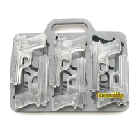 6-Gun Ice Tray Ice Mold Flexible Silicone Mold diy Mold in Handmade