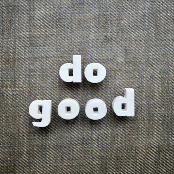 Do Good - Vintage Ceramic Push Pins