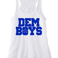 DEM BOYS womens flowy racerback | Dallas Shirt | dem boys shirt