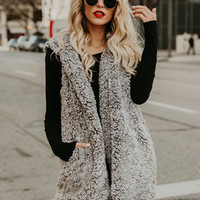 Fashion Hooded Sleeveless Solid Color Lamb Wool Vest - NOVASHE.com