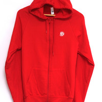 Always Ask Questions Red Zip Up Hoodie