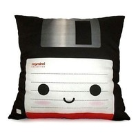 Black Floppy Disk Deluxe Pillow by mymimi on Etsy