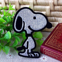 Snoopy iron on applique embroidery E015 by happysupply on Etsy