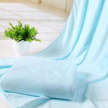 5 Colors 70*140 cm Absorbent Microfiber Drying Bath Beach Towel Washcloth Swimwear Shower Round Beach Towel For Adults