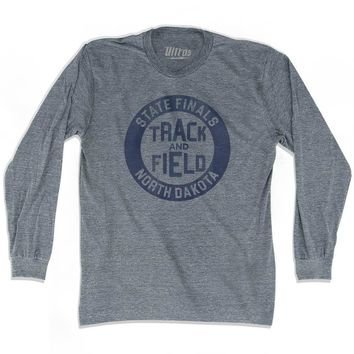 North Dakota State Finals Track and Field Adult Tri-Blend Long Sleeve T-shirt