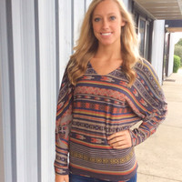 Fall Aztec Blouse