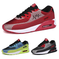 New Couple Running Shoes Men's and Women's Fashion Breathable Knit Fly Line Sneakers = 1958204292