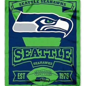"Seattle Seahawks 50"" x 60"" Fleece Blanket"