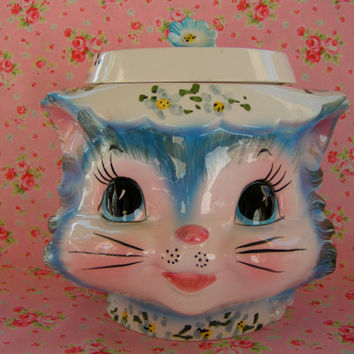 Vintage Lefton Miss Priss Cookie Jar
