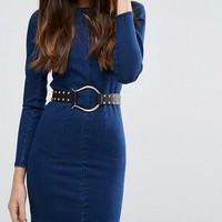 ASOS Studded Horseshoe Buckle Jeans Belt at asos.com
