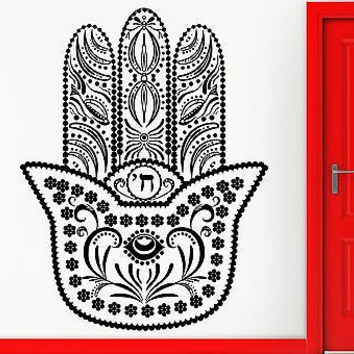 Wall Stickers Vinyl Decal Hamsa Amulet Talisman Good Luck Decor  (z2370)