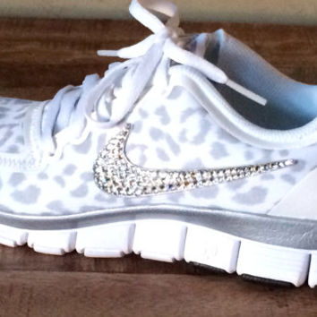 Nike Free Run 5.0 with Swarovski crystal from HarrietHazelDesigns f13cb7b501