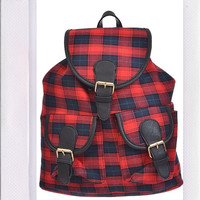 Plaid Out Backpack