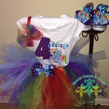 My Little Pony Rainbow Dash Birthday Tutu And Shoe Set