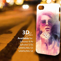Lana Del Rey Paint (aj) 3D iPhone Case for iPhone 4/4S, iPhone 5/5S and,Samsung Galaxy S3, S4