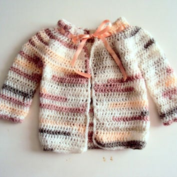 Baby Girls/Boys Crochet Cardigan Newborn Jacket Baby Shower Gift Baby Clothing Baby Outwear Baby 0 - 6 months