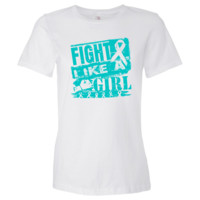 Ovarian Cancer BurnOut Fight Like a Girl shirts, apparel and gifts featuring a teal ribbon to call attention to the importance of awareness for Ovarian Cancer brought to you by  cancer survivors and advocates at  http://www.ovariancancershirts.